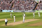 Ian Bell and Joe Root celebrate England win 3rd Ashes Test 2015 Prints