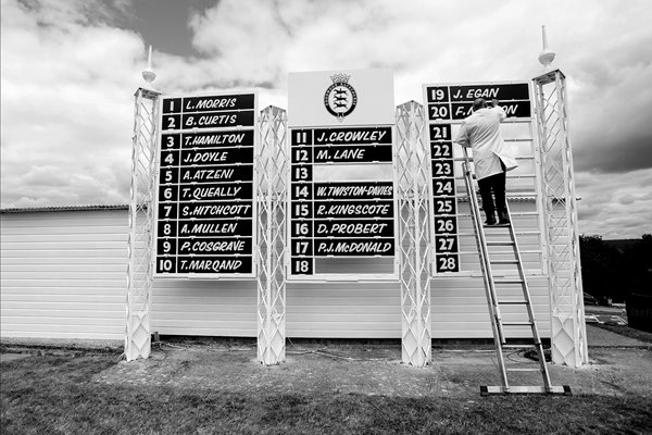 Goodwood Races Scoreboard B&W