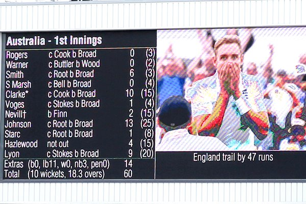 Day 1 Lunchtime Scoreboard Trent Bridge Ashes 2015