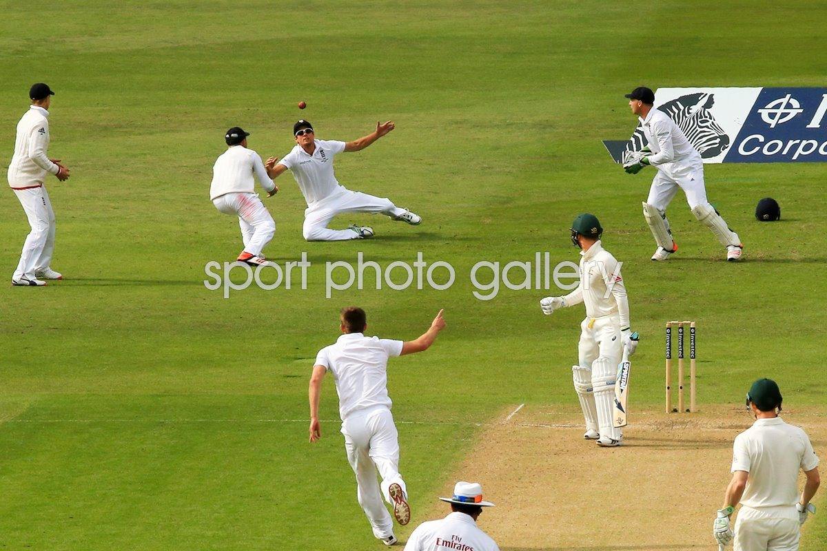 Alastair Cook, Ian Bell & Michael Clarke Trent Bridge Ashes 2015