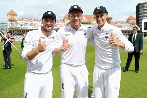 Lyth, Bairstow & Root Yorkshire & England Ashes Winners 2015