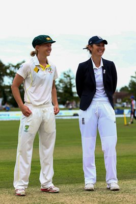Charlotte Edwards & Meg Lanning 2015 Women's Ashes Captains