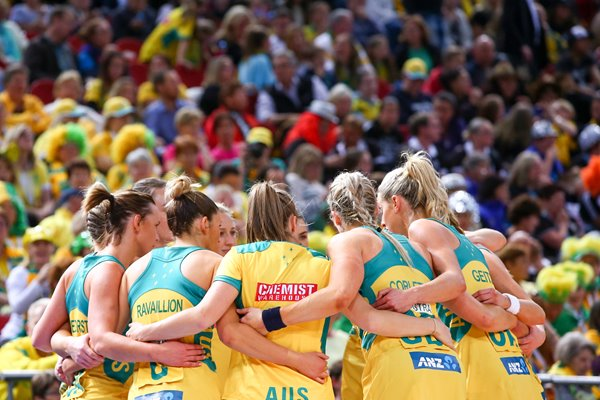 Australia Team Huddle 2015 Netball World Cup