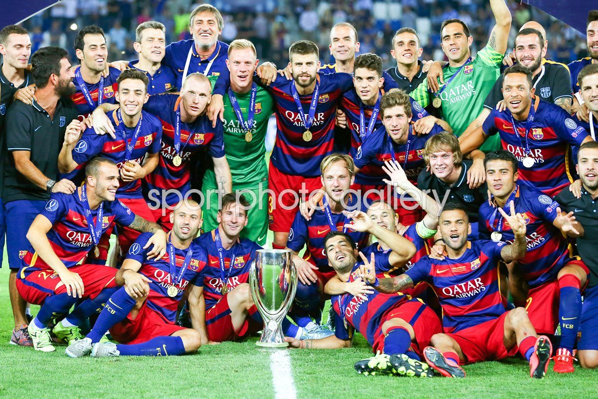 Barcelona 2015 UEFA Super Cup Winners