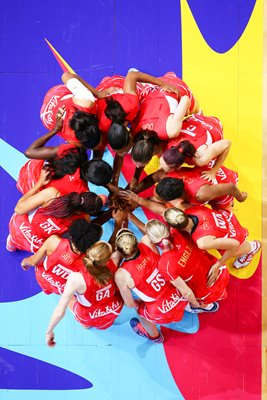 England Huddle 2015 Netball World Cup