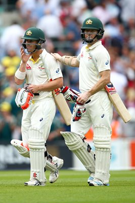David Warner & Chris Rogers Oval 2015