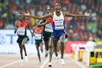 Mo Farah 10,000 Metre Champion Beijing 2015 Canvas