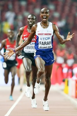 Mohamed Farah 10,000 Meters Champion Beijing 2015
