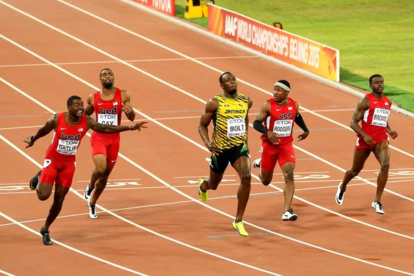 Usain Bolt 100m Gold World Athletics Beijing 2015