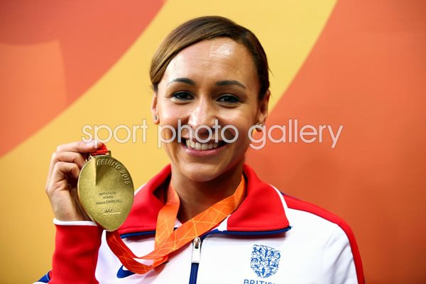 2015 Jessica Ennis-Hill with Gold Medal Beijing