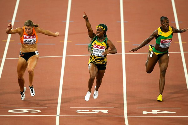 Shelly-Ann Fraser 100m Final Beijing 2015
