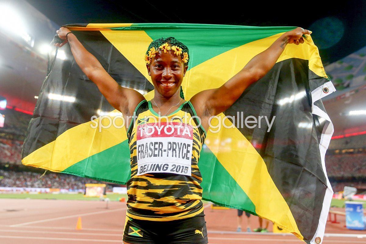 Shelly-Ann Fraser 100m winner Beijing 2015