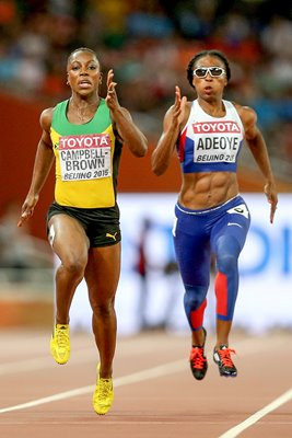 Margaret Adeoye & Veronica Campbell-Brown Beijing 2015