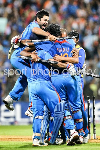 India World Cup Victory Team Huddle