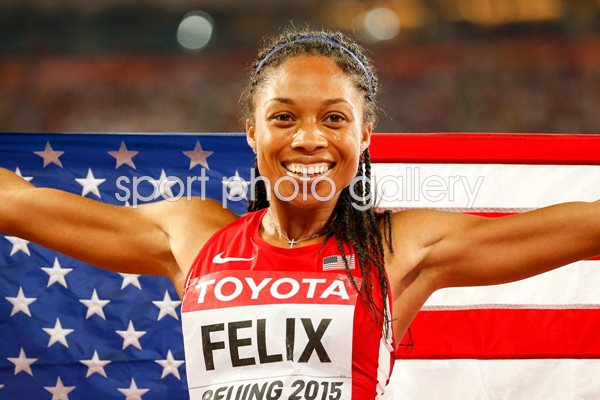 Allyson Felix IAAF World Athletics Championships Beijing 2015