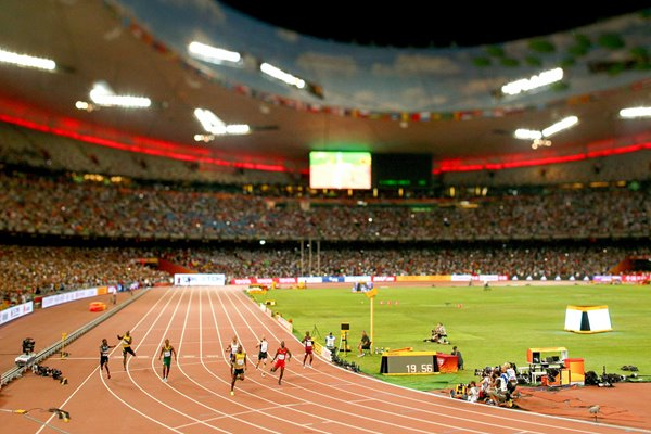 Usain Bolt wins gold in the Men's 200m Beijing 2015