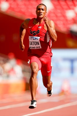 Ashton Eaton USA Decathlon 100m Beijing 2015