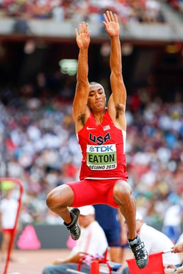 Ashton Eaton USA Decathlon Long Jump World Athletics 2015