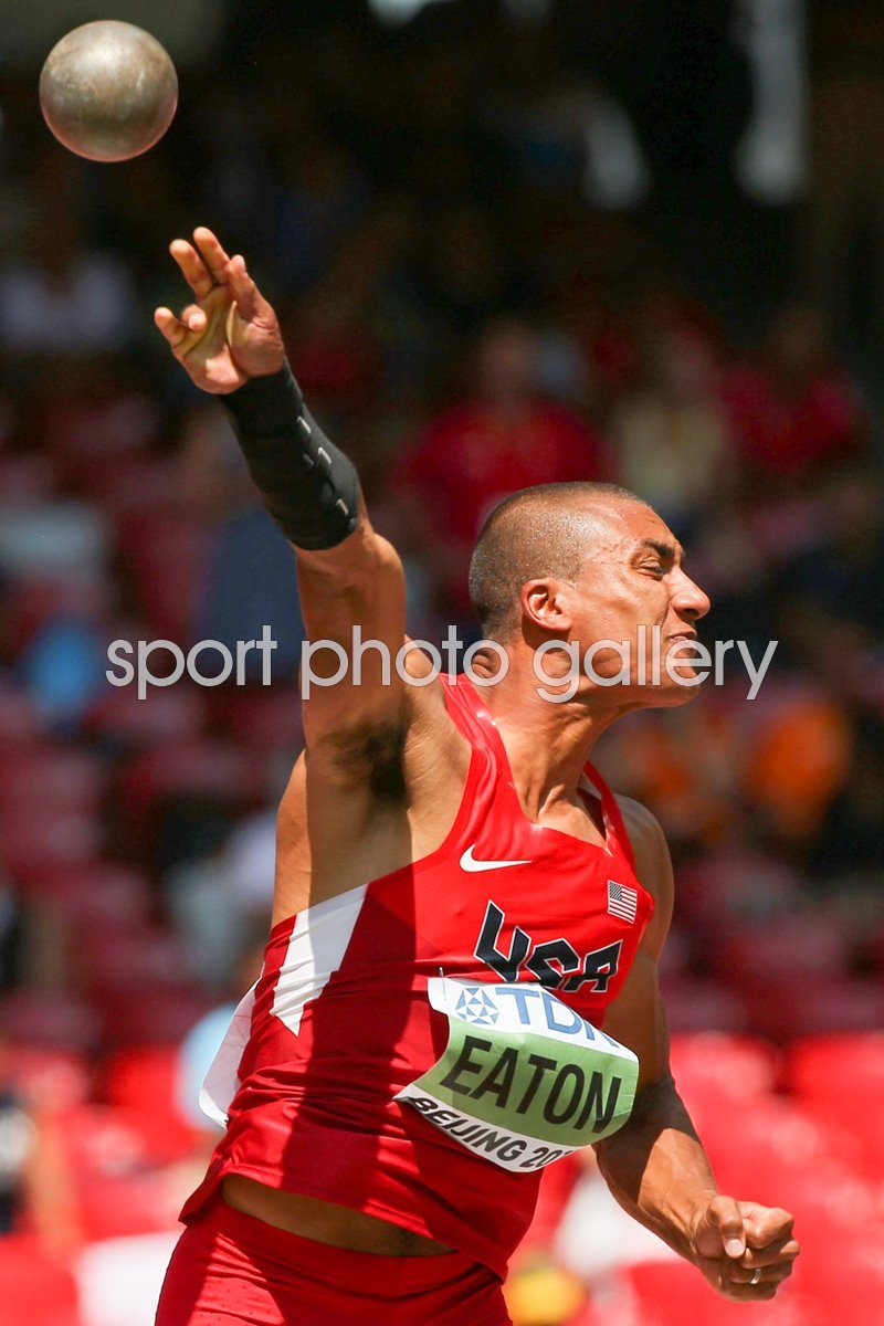 Ashton Eaton USA Decathlon Shot Put Beijing 2015