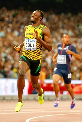 usain bolt 4x 100m relay gold Beijing 2015