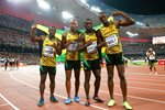Jamaica 4x100m relay winners World Athletics Beijing 2015 Prints