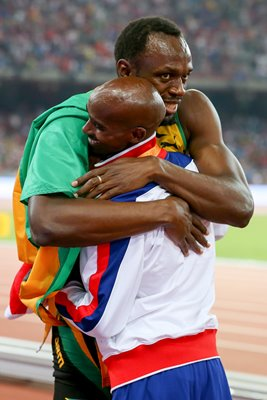 Mo Farah & Usain Bolt World Athletics Beijing 2015