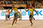 Nickel Ashmeade to Usain Bolt Jamaica Relay Gold 2015 Prints