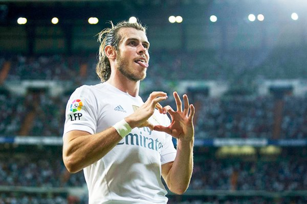 Gareth Bale Real Madrid heart goal celebration