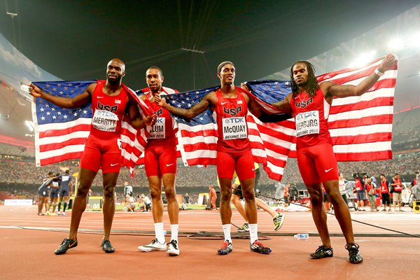 USA Champions World Athletics 4x400m Relay Beijing 2015