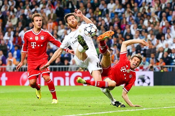 Xabi Alonso Thomas Mueller Champions League 2014