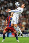 Ronaldo Real Madrid v Xavi Barcelona Champions League Prints