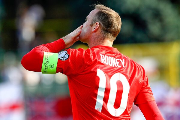 Wayne Rooney equals the record of 49 goals for England