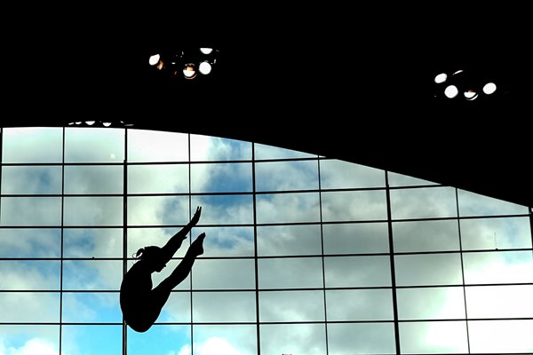 Diver's silhouette London Aquatics Centre 2014