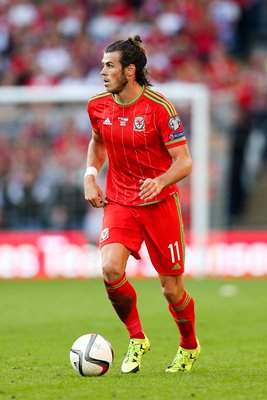 Gareth Bale Wales controls the ball
