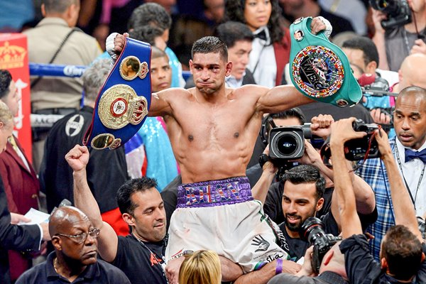 Amir Khan celebrating 2014