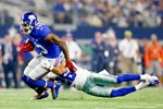 Odell Beckham New York Giants v Tyler Patmon Dallas Cowboys Prints