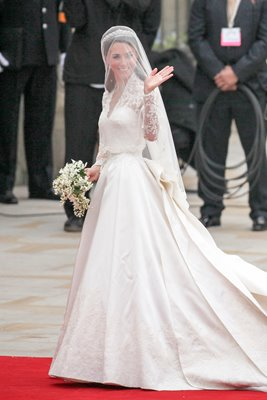 Royal Wedding Photos - Kate Middleton arrives