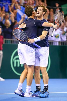 Andy & Jamie Murray Great Britain v Australia Davis Cup 2015