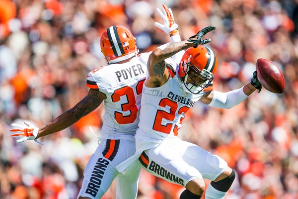 Jordan Poyer and Joe Haden Cleveland Browns