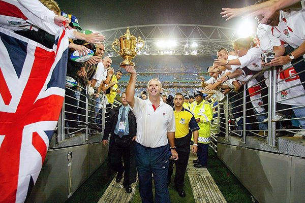 Clive Woodward England with Webb Ellis cup 2003 Rugby World Cup