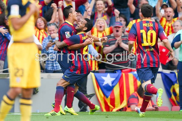 Alexis Sanchez Celebrating La Liga 2014