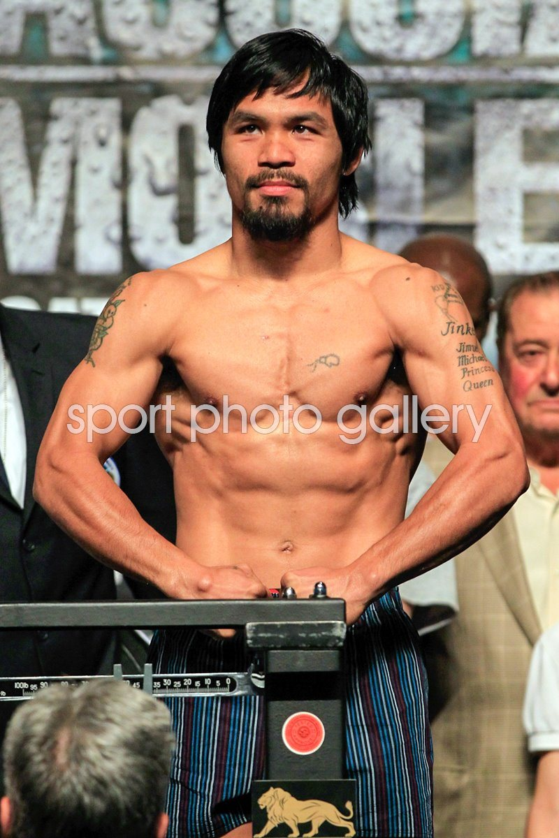 Manny Pacquiao v Shane Mosley - Weigh-In