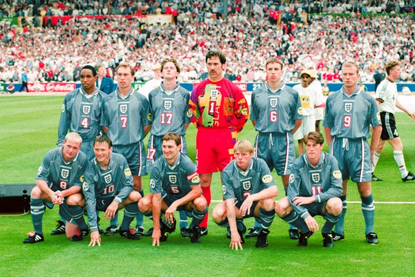 England Team Semi Final Euro 1996