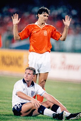 Paul Gascoigne and Marco Van Basten