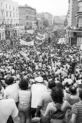 Notting Hill Carnival in the 1980s.