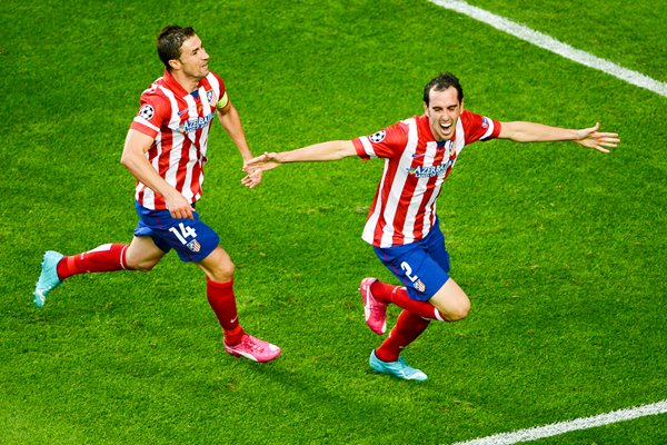 Atletico Madrid Diego Godin Champions League Final 2014