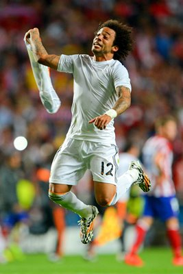 Marcelo Real Madrid Win Champions League Final 2014