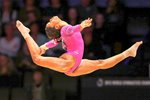Gabrielle Douglas USA World Gymnastics Glasgow 2015 Acrylic