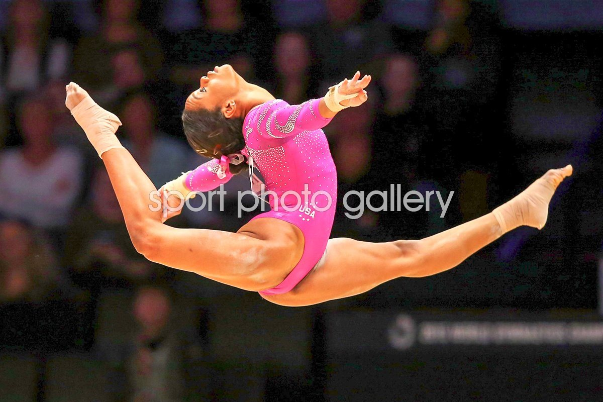 Gabrielle Douglas USA World Gymnastics Glasgow 2015