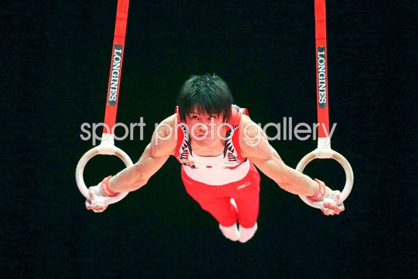 Kohei Uchimura Japan Rings World Gymnastics Glasgow 2015
